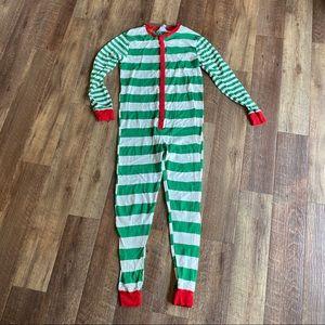 Wondershop striped Christmas one piece pajamas LG